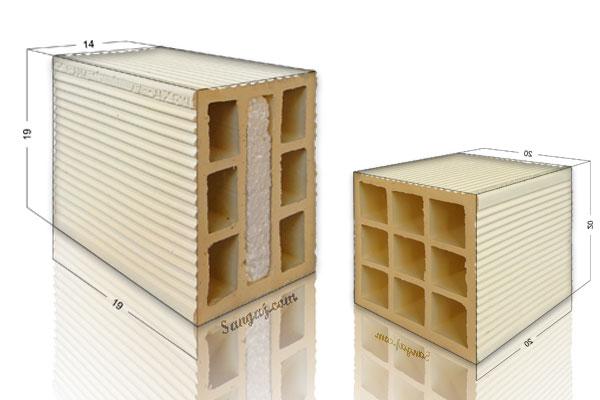 ابعاد آجر سفال و محاسبه تعداد آجر مورد نیاز برای هر متر مربع